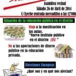 Asamblea sabado 26 12:00 horas Mercadillo de Barajas