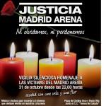 Vigilia por las victimas del Madrid Arena