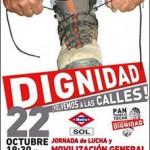 Mañana Jueves 22-O nos sumamos a la jornada de lucha estatal de las marchas de la dignidad