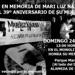 Acto homenaja a Mari Luz Nájera el 24E