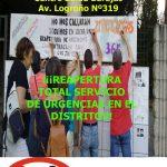 Concentración jueves 2 de junio por la reapertura total de las Urgencias en Barajas