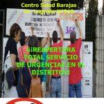 Concentración el 1 septiembre por la reapertura del servicio de urgencias de Barajas